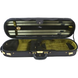 Oblong Violin Hard Case UltraLux 4/4 M-case Black - Green
