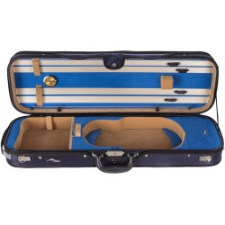 Oblong Violin Hard Case Perfect 4/4 Mcase Navy Blue - Blue