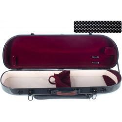 Étui pour violon en fibre de verre Fiberglass Street 4/4 M-case Noir Point - Bordeaux