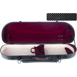 Half moon violin case Fiberglass Street 4/4 M-case Black Point - Burgundy