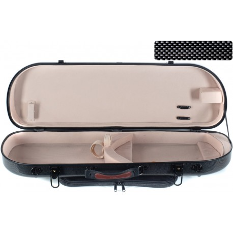 Half moon violin case Fiberglass Street 4/4 M-case Black Point - Cream