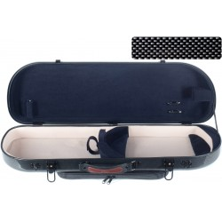 Étui pour violon en fibre de verre Fiberglass Street 4/4 M-case Noir Point - Bleu Marine