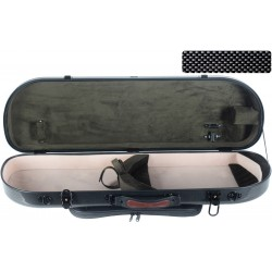 Étui pour violon en fibre de verre Fiberglass Street 4/4 M-case Noir Point - Olive
