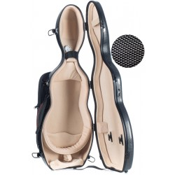 Étui pour violon en fibre de verre Fiberglass UltraLight 4/4 M-case Noir Point - Créme