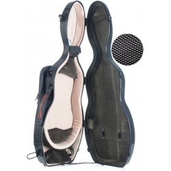Étui pour violon en fibre de verre Fiberglass UltraLight 4/4 M-case Noir Point - Olive