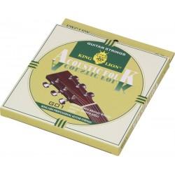 Stahlsaiten für Akustikgitarre Folk 4/4 King Lion G01