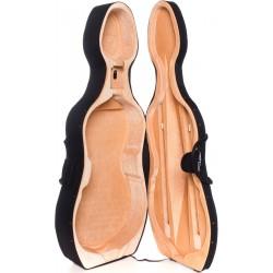 Cellokoffer Schaumstoff Classic 4/4 M-case Schwarz - Beige