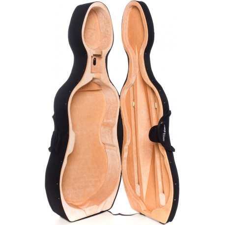 Foam Cello Case Classic 4/4 M-case Black - Beige