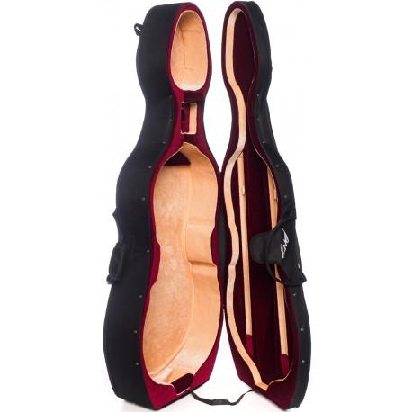 Foam Cello Case Classic 4/4 M-case Black, Burgundy-Beige