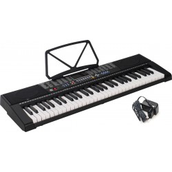Keyboard 61 Świecące Klawisze M-tunes MTL-90M Czarny