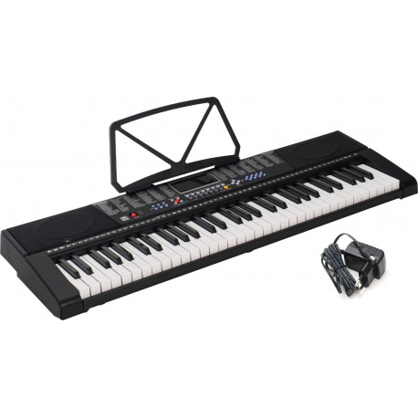 Electronic Keyboard 61 Keys Lighted M-tunes MTL-90M Black