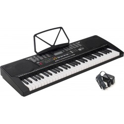 Clavier arrangeur Keyboard 61 Touches Lumineuses M-tunes MTL-91M Noir